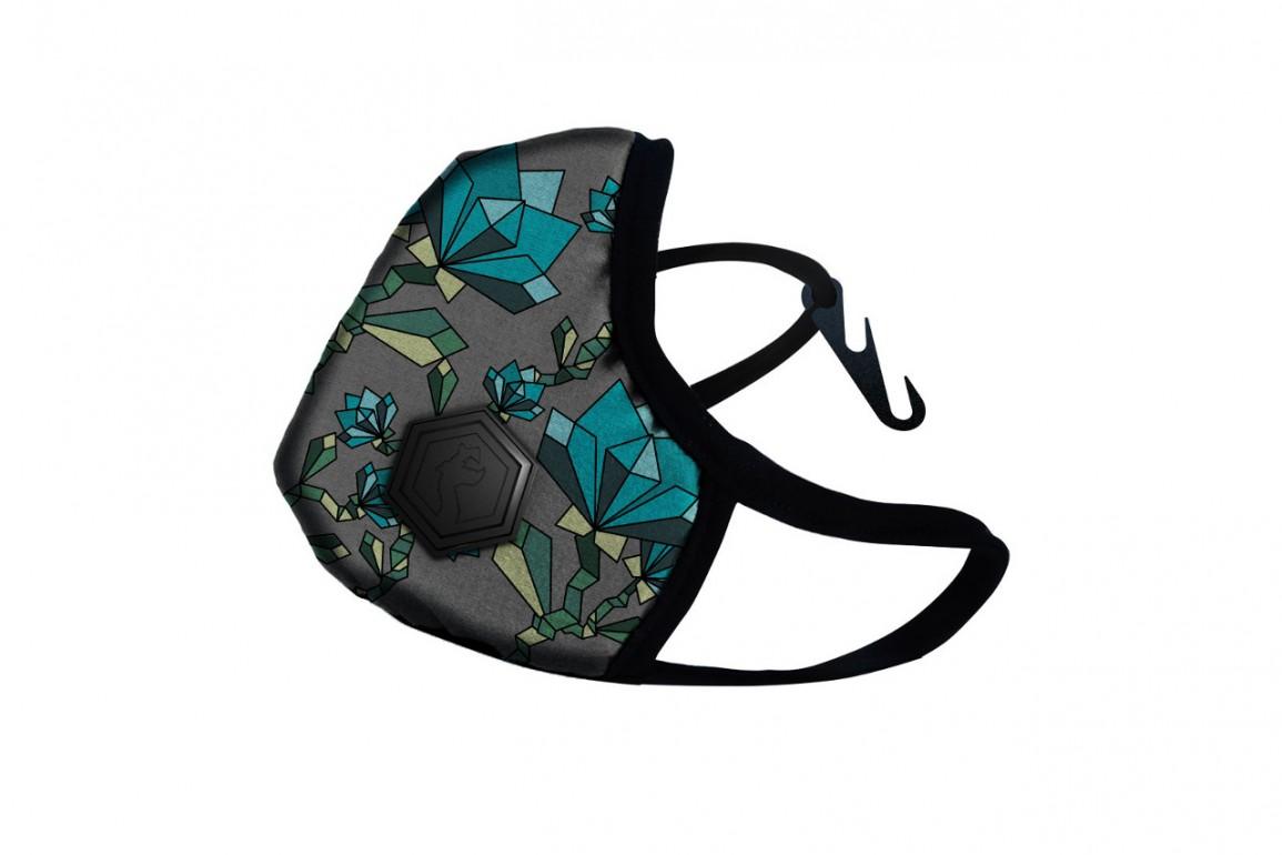 Maska DRAGON Casual Floral Turquoise