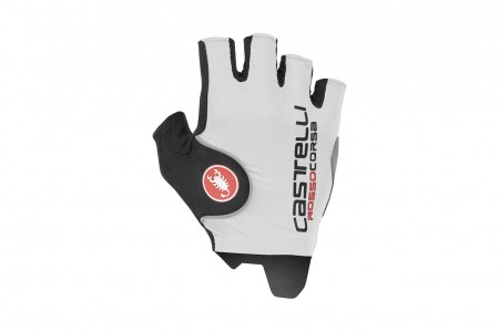 CASTELLI rękawiczki Rosso Corsa Pro White