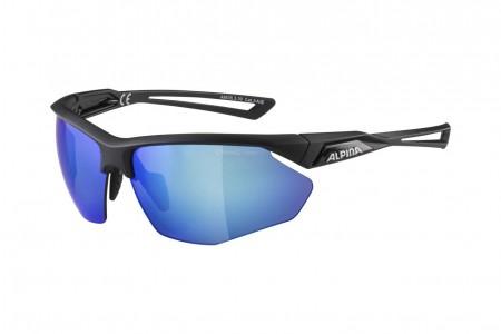 ALPINA okulary NYLOS HR kolor BLACK MATT szkło BLUE MIRROR Cat.3 2020