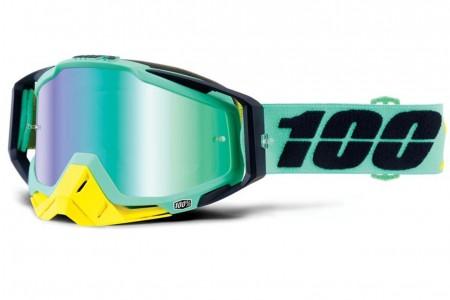 100% gogle Accuri Racecraft Kloog zielony czarny szybka zielone lustro