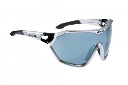 ALPINA okulary S-WAY CM kolor silver-black matt szkło black mirror S3