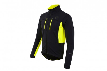 PEARL IZUMI kurtka Elite Softshell Black Yellow