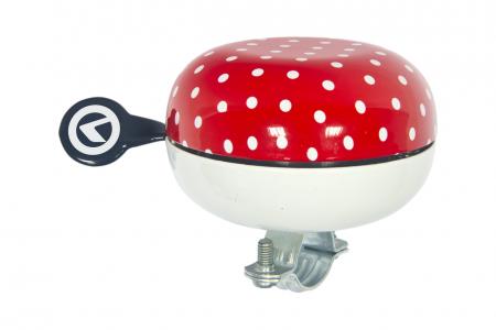 KELLYS Dzwonek Rowerowy Bell 80 Czerwone Kropki