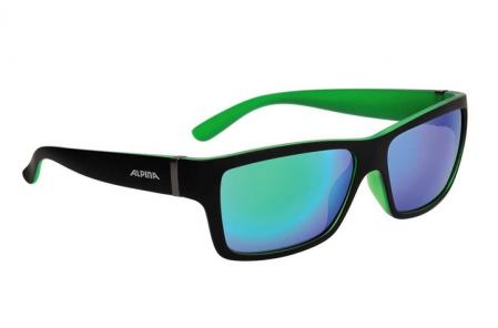 ALPINA okulary Kacey kolor black matt-green szkło green mirror