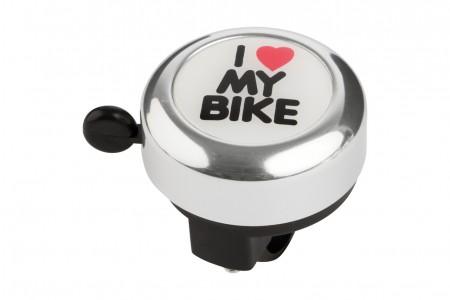 KROSS dzwonek I love my bike Silver