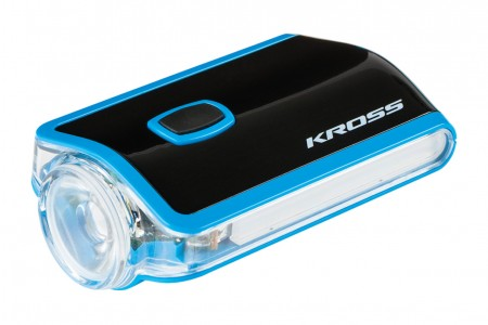 KROSS lampka przednia Flash Blue