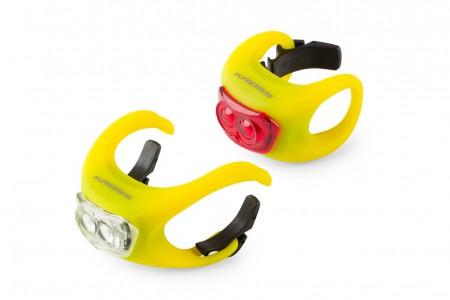 KROSS komplet lampek Silicone set Yellow
