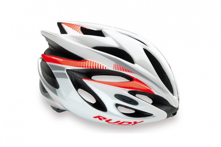 RP kask Rush White Red fluo