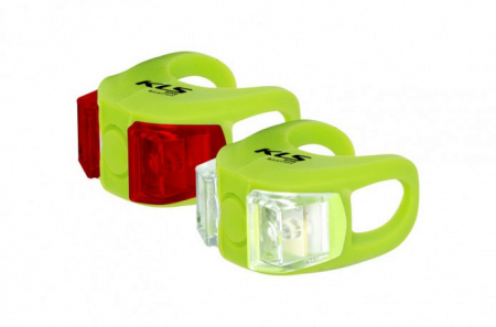 KELLYS komplet lampek Twins set Lime