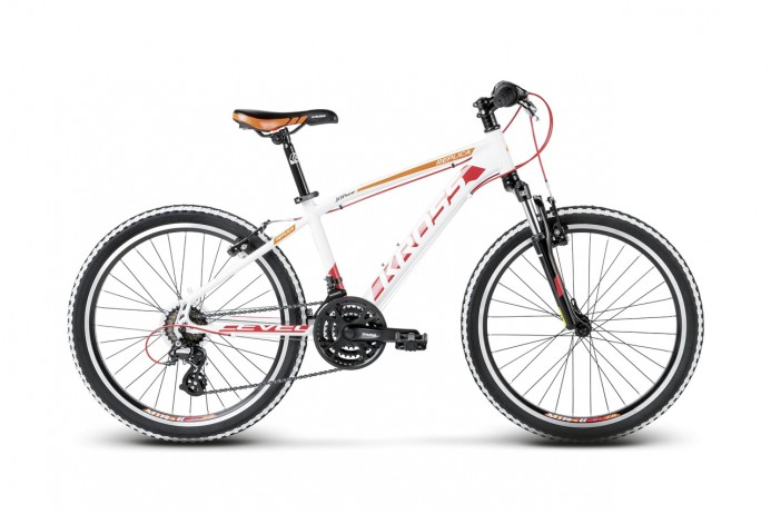 "KROSS Level Replica koło 24"" White Red Orange"