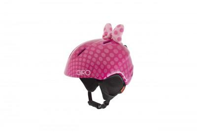 GIRO Kask zimowy LAUNCH PLUS pink/bow/polka dots 2020