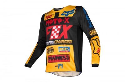 FOX 180 Czar jersey Black Yellow 2019