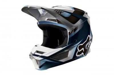 FOX kask V1 motif Blue Gray 2019
