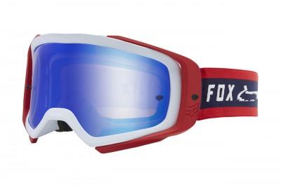 FOX Gogle Air Space II Simp Navy/Red - Szyba Blue Mirror 2020
