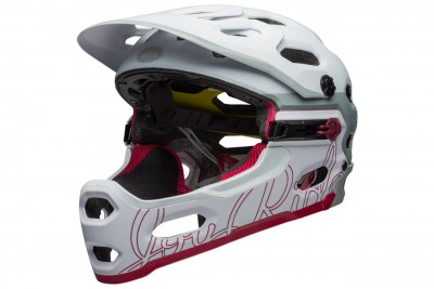 BELL kask Super 3R JOY RIDE MIPS Matte Gloss White Cherry Dissolve