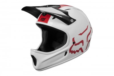 FOX kask Proframe Rampage white red 2019