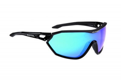 ALPINA okulary S-WAY CM kolor black matt szkło blue mirror S3