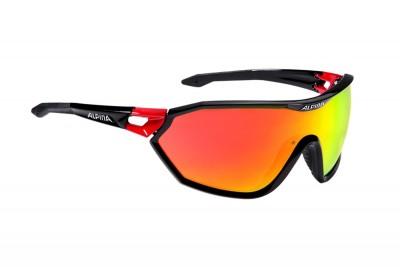 ALPINA okulary S-WAY CM kolor black red szkło red mirror S3