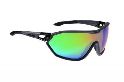 ALPINA okulary S-WAY VLM+ kolor coal matt black szkło rainbow mirror S1-4 Fogstop Hydrophob