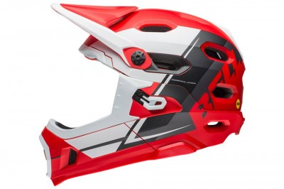BELL kask Super DH MIPS Red White Black