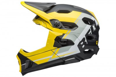 BELL kask Super DH MIPS Yellow Silver Black