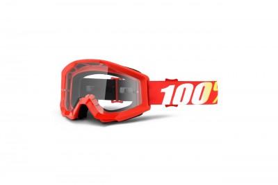 100% Gogle STRATA FURNACE (Szyba Przezroczysta Anti-Fog) Red 2020