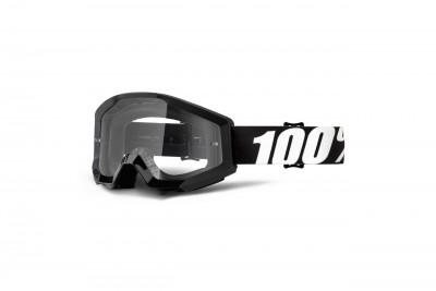 100% Gogle STRATA OUTLAW (Szyba Przezroczysta Anti-Fog) Black 2020