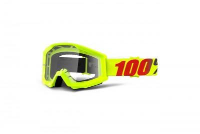 100% Gogle STRATA MERCURY (Szyba Przezroczysta Anti-Fog) Yellow 2020
