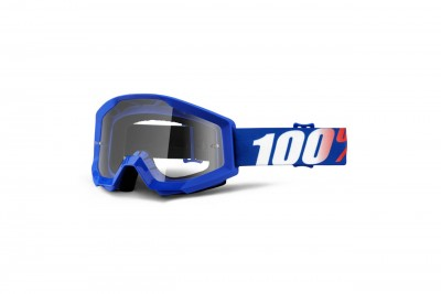100% Gogle STRATA NATION (Szyba Przezroczysta Anti-Fog) Blue 2020