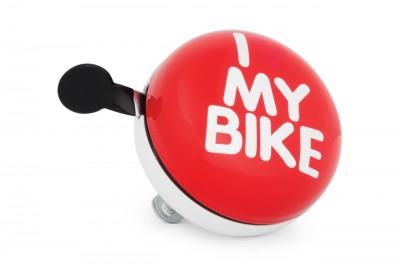 Dzwonek rowerowy RETRO LE GRAND XXL Gong 80 mm Stal Red White