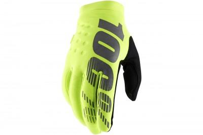 100% Brisker rękawice Yellow/Black
